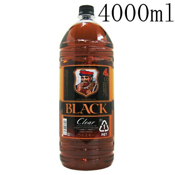ニッカウイスキー ブラックニッカクリア 37度 4L(4000ml) 大容量ペットボトル入 【ウイスキー】