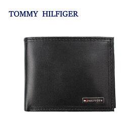 TOMMY HILFIGER 財布 31TL130049 トミーヒルフィガー FORDHAM プレートロゴデザイン 二つ折り財布 メンズ トミー ブランド ag-1683