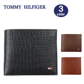 TOMMY HILFIGER 財布 31TL130060 トミーヒルフィガー クロコデザイン 二つ折り財布 メンズ トミー ブランド ag-1691