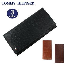 TOMMY HILFIGER 財布 31TL190004 トミーヒルフィガー クロコデザイン 長財布 メンズ トミー ブランド ag-1692