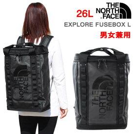 THE NORTH FACE リュック EXPLORE FUSEBOX Lサイズ 26L ザ・ノース・フェイス BOX型 トート2Way BLACK ブラック リュックサック ノースフェイス バックパック メンズ レディース 男性 女性 男女兼用 NF0A3KYF KX7 ブランド ag-257700