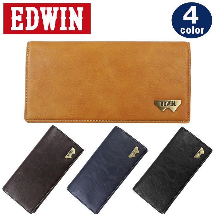 エドウイン EDWIN 財布 12289937 長財布 グレイン合皮 Wメタル 折り財布 エドウィン  ブランド ag-903200