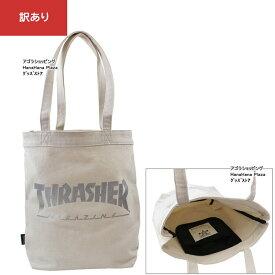 【訳あり返品不可】 um-907 THRASHER バッグ THC800-IV×SVマグロゴ スラッシャー プリントトート マグロゴ フレームロゴ Bag