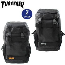 31f9d32f4dca THRASHER スラッシャー バッグ リュック THRPN-8900 ボードバックパック かぶせ ダブルベルト サイドメッシュポケット