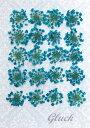 【ネコポス便でお届け・代引き不可】コンパクト 押し花 レースフラワー(ブルー) 20枚 少量パックにしてお届け! UV…