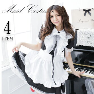 Halloween harrow in HALLOWEEN black pink for the costume play Halloween maid big size XL costume clothes maid black costume play clothes こすぷれ lady's girl event maid clothes dress disguise Santa disguise