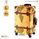 「マツコの知らない世界」で紹介されました。スーツケース HANAism トランクケース トランクキャリー Lサイズ4輪 [18/オールドマップ] …