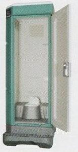 ★【ハマネツ】 屋外仮設トイレ<TU−V1 非水洗タイプ 和式 > PE ポリエチレン製 全ドアタイプ W840XD1550XH2470