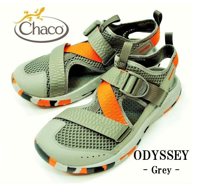 """【送料無料】【Chaco/チャコ】-Ms ODYSSEY """"GREY""""/メンズオデッセイ """"グレー"""""""