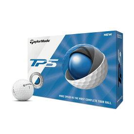 【USA直輸入品】TAYLOR MADE(テーラーメイド) ゴルフボール TP5 2019年モデル 12個入り ホワイト 【送料無料】