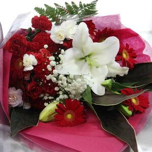 大輪白ユリお祝い花束