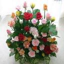 バラ30本と季節の花のフラワーアレンジメント(アレンジメントフラワー) 誕生日に薔薇をプレゼント【母の日 父の日 誕生日 発表会 記念…