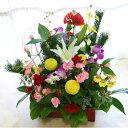 楽天市場 送料無料 正月飾り 生花 正月花 迎春のお正月限定フラワーアレンジメント 華ぐるま 花の専門店 行きつけのお花屋さん