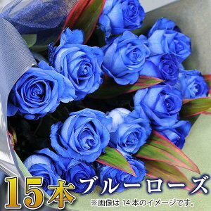 誕生日 花 ギフト バラ 花束 15本 青いバラ ブルーローズ 花束 バラ 花束 青いバラ 誕生日 記念日 プロポーズ 花束 青いバラ15本の花束 ブルーローズ ベンデラ 薔薇 送料無料 宅配 配送 お祝 ギ