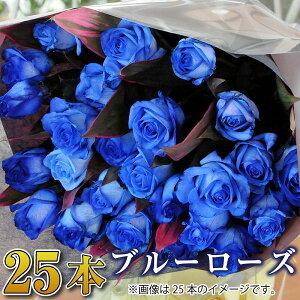 誕生日 花 ギフト バラ 花束 25本 青いバラ ブルーローズ 花束 バラ 花束 青いバラ 誕生日 結婚記念日 プロポーズ 花束 青いバラ25本の花束 ブルーローズ 薔薇 送料無料 宅配 配送 送別会 退職