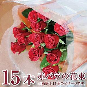 誕生日 花 ギフト バラ 花束 15本 赤いバラ 花束 バラ 花束 赤いバラ プロポーズ 誕生日 記念日 ギフト 赤バラ15本の花束 薔薇 ローズ 贈る 花 プレゼント 花ギフト 送料無料 卒業祝い 送別祝い