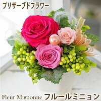 バレンタインプリザーブドフラワーフルールミニョンクリアケース付き花ギフトバラピンクレッド薔薇プリザーブドフラワープレゼント送料無料花ギフトお祝いの花