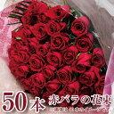 花 プレゼント ギフト 赤いバラの花束50本 薔薇 ばら 誕生日 プロポーズ 年の数 結婚記念日 発表会 送料無料 ローズ