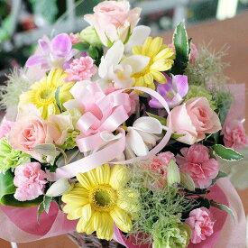 誕生日 花 ピンクスター Lサイズ フラワー アレンジメント お見舞い 退院祝い