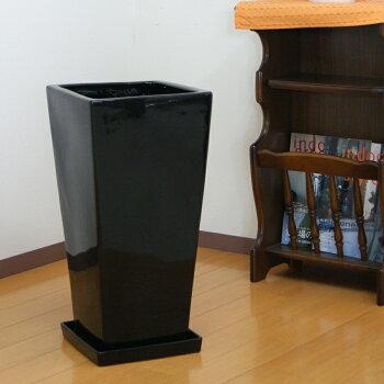 10号角高陶器鉢黒