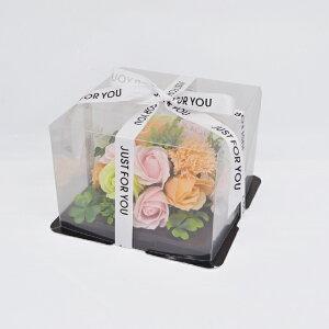シャボンフラワー(ソープフラワー)ミニフラワーケーキ ピンク×オレンジS-5800 PINK×ORANGE