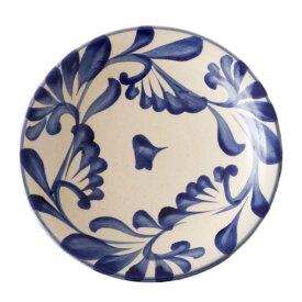 やちむん 7寸皿 大皿 コバルト唐草 陶眞窯   プレート 沖縄 焼物 焼き物 陶器 おしゃれ 皿