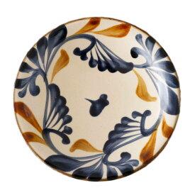 やちむん 7寸皿 大皿 ゴス唐草 陶眞窯   プレート 沖縄 焼物 焼き物 陶器 おしゃれ 皿