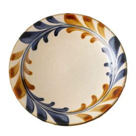 やちむん 7寸皿 大皿 デイゴ唐草 陶眞窯   プレート 沖縄 焼物 焼き物 陶器 おしゃれ 皿