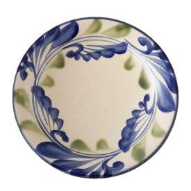 やちむん 7寸皿 大皿 線引唐草 陶眞窯   プレート 沖縄 焼物 焼き物 陶器 おしゃれ 皿