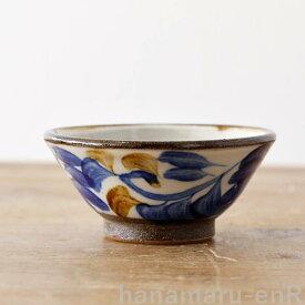 やちむん 茶碗 やちむん工房 マカイ 3.5寸 染付唐草   皿 食器 沖縄陶器 焼き物 作家