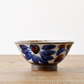 やちむん 茶碗 やちむん工房 マカイ 4寸 染付唐草   皿 食器 沖縄陶器 焼き物 作家