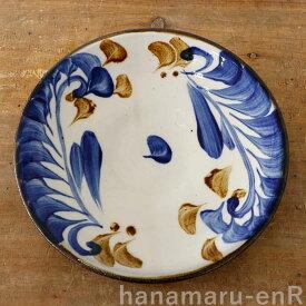 やちむん 大皿 やちむん工房 7寸皿 染付唐草   プレート 食器 沖縄陶器 焼き物 作家