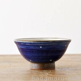 やちむん 茶碗 やちむん工房 マカイ 4寸 白点打 ドット   皿 食器 沖縄陶器 焼き物 作家