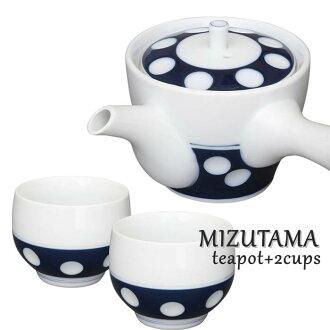 波佐見焼有田焼急須+喝茶2个安排新水滴副1000制陶术所| 茶器日本製肥前吉田焼