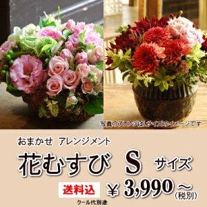 """【送料込】おまかせ アレンジメント""""花むすび Sサイズ..."""