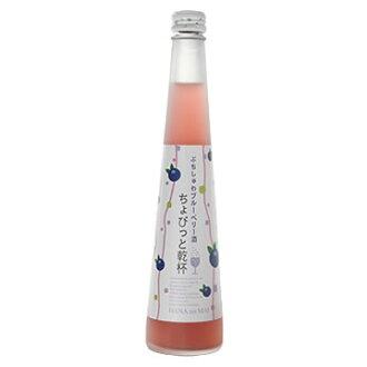 *1箱发泡蓝莓酒花的舞chobitto干杯puchishuwa蓝莓酒300ml(12)