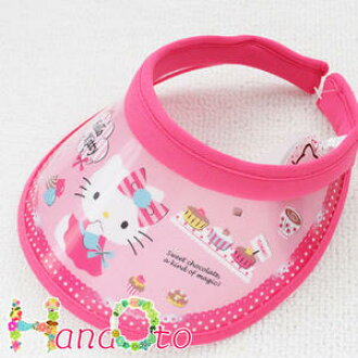 Hello Kitty lovely sun visor type D (pink mesh) ☆ Hello Kitty sanrio Sanrio  imported goods children s sun visor shade UV protection UV measures Hat 8e42c4e18f8d