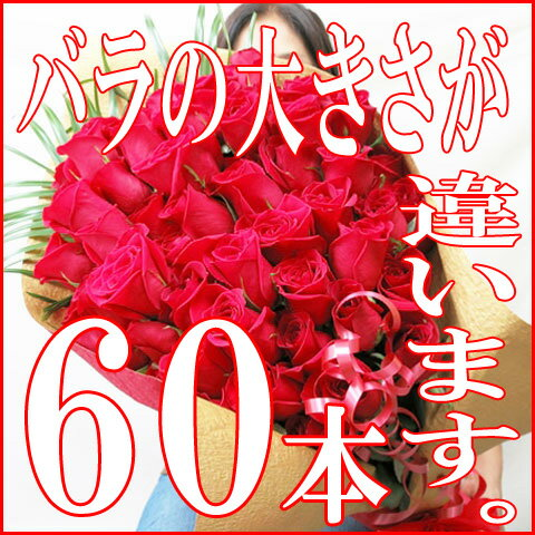 還暦祝いの女性 母にプレゼント 還暦祝い母プレゼント誕生日にバラ花束60本