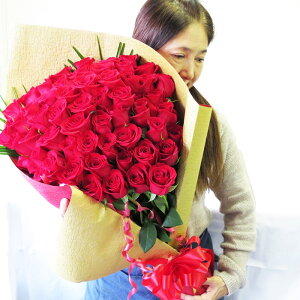 還暦祝い 女性 還暦祝い 母 プレゼント バラ60本花束 還暦祝い女性 おしゃれ