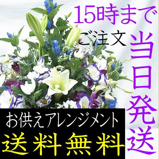 お供え お盆 初盆 お悔やみ 花 供花 アレンジメント ペット 生花 アレンジ 本州は 送料無料
