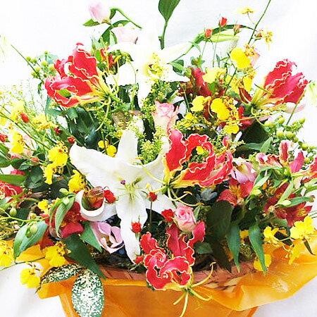 フラワーアレンジメント 花 誕生日 送料無料 送別会 歓迎会 アレンジメントフラワー ボリューム ギフト