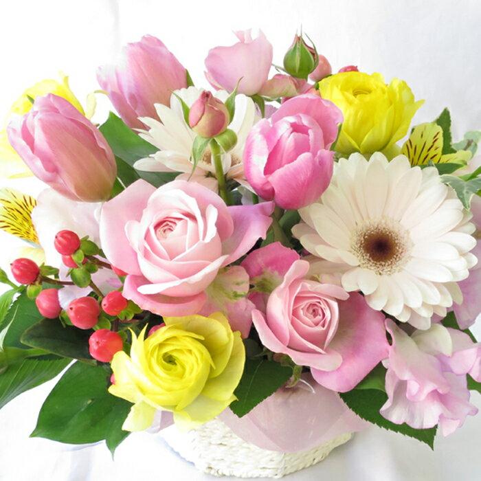 フラワーアレンジメント 生花 あす楽 誕生日 フラワー アレンジ 本州は 送料無料
