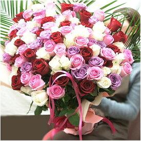 バラ 100本 バラ 花束 バラ108本 誕生日プレゼント女性 100本のバラ プロポーズの花 薔薇の花束