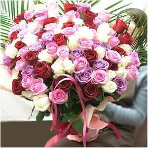 バラ 100本バラ花束 バラ108本花束 誕生日プレゼント女性 プロポーズの花
