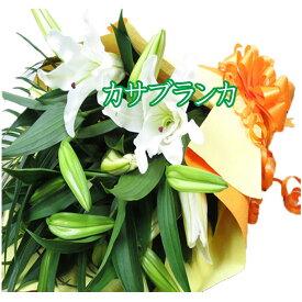 誕生日プレゼント カサブランカ 花束 誕生日 花 ギフト 本州は 送料無料 ユリ花束