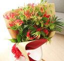 花束グロリオサ10本 誕生日 開店祝い 花 開業祝い 還暦祝い
