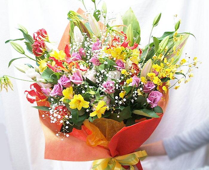 花束 送料無料 フラワーギフト 誕生日プレゼント 花 退職祝い お祝い 開店 開業 新築祝い 送別会 歓迎会