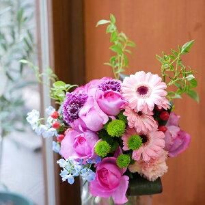 花束 フラワー 花 かわいい 誕生日 お祝 開店祝い プレゼント バラ ガーベラ スカビオサ スプレーマム デルフィニウム ブーケ 送料無料 早割 母の日