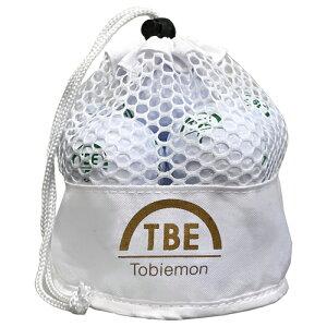 【予約販売7月中旬頃入荷予定】12個セット TOBIEMON 2ピース カラーボール メッシュバック入り ホワイト TBM-2MBWX12