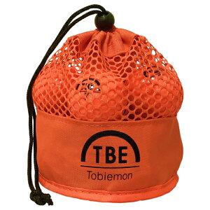 【予約販売7月中旬頃入荷予定】12個セット TOBIEMON 2ピース カラーボール メッシュバック入り オレンジ TBM-2MBOX12
